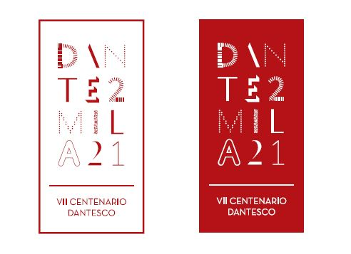 Il logo per Dante 2021